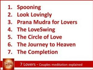 7 Lovers - couples meditation explained